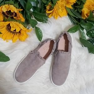Kate Spade Lillie Suede Ruffle Slip On Sneakers